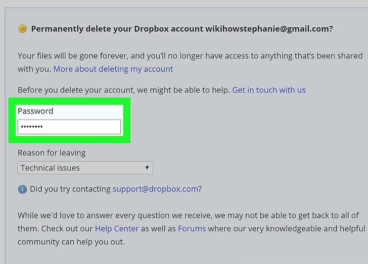 Step 6: Provide your password to confirm your identity.